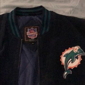 Men's xl Miami dolphins suede jacket, lined